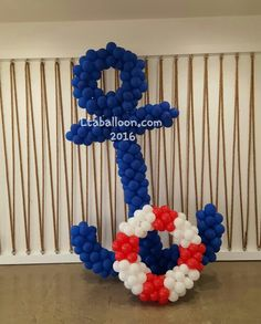 Ideas Baby Boy Shower Nautical Theme Decoration For can find Nautical theme and more on our Ideas Baby Boy Shower Nautical Theme Decoration For 2019 Sailor Baby Showers, Anchor Baby Showers, Boy Baby Shower Themes, Baby Shower Balloons, Baby Boy Shower, Baby Shower Marinero, Deco Ballon, Nautical Party, Balloon Decorations