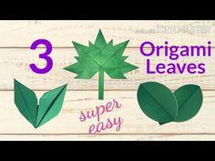Origami And Kirigami, Easy Origami, Origami Leaves, Paper Leaves, Classroom Projects, Love Craft, How To Make Paper, Flower Decorations, Super Easy