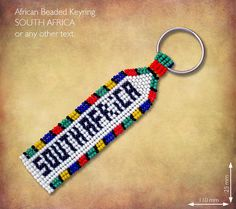 Beaded SOUTH AFRICA keyring