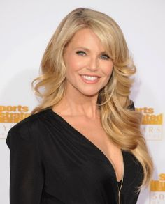 Christie Brinkley at the Sports Illustrated Awards. Hair by Jen Atkin. Makeup by Jake Bailey.