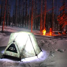 Polar camp on Three Fingered Jack in Oregon.