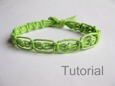 Easy knotted bracelet instructions pdf macrame by Knotonlyknots, $3.75