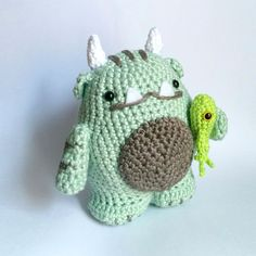 Vote for Sgrunfo the swamp monster for the Amigurumi Monster Design @ amigurumipattern