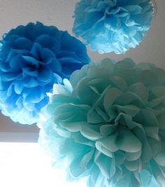 15 Pom Poms - Your Color Choice- SALE via Etsy