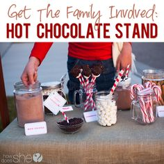 Encourage Kids to Serve: Hot Chocolate Stand with FREE Printables!
