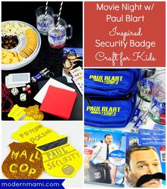 Have a fun family movie night with the Paul Blart Mall Cop 2 movie two pack. And try our security guard badge kids craft for more fun!