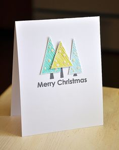 Christmas Tree Trio Card by Maile Belles for Papertrey Ink (September 2013)