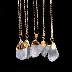 These would be gorgeous fashioned out of resin - the molds would be easy to make and they could be made in as many luscious colors as we wanted! ***** As seen on eBay selling for $2.11: Fashion-Natural-Crystal-Quartz-Stone-Gemstone-Pendant-Womens-Irregular-Necklace