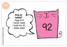 tallkatter3 Brain Teasers, Runes, Content, Education, School, Numbers, Maths, Children, Tips