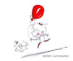 El globo rojo y otros on Behance de Adribel