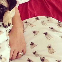 pug bed sheet