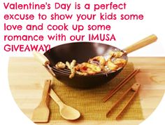 Valentine's Day is a perfect excuse to show your kids some love and cook up some romance with our #IMUSA GIVEAWAY! -