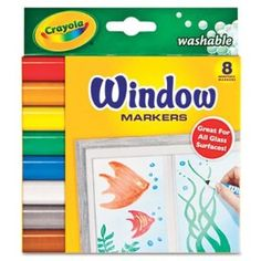 Kids love using these Window Markers to decorate the windows. They draw pictures, practice writing letters, and play games.