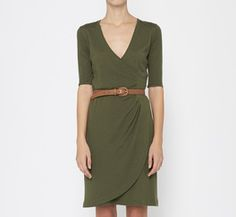 Absolutely LOVE this Ralph Lauren Black Label Green Dress : Cute for fall with boots and a jacket!