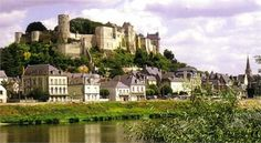 Château de Chinon, Chinon France. First fortified by  Theobald I, Count of Blois