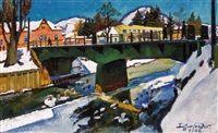 Nagybánya télen Nagybánya in winter by Sándor Ziffer
