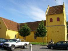 Yellow church in Allinge