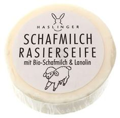Haslinger Schafmilch Shaving Soap with Sheep Milk and Lanolin
