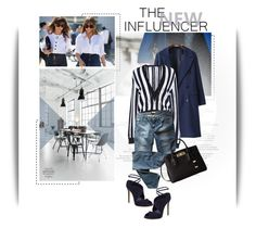 """""""Shades of Blue"""" by emeliethorsell ❤ liked on Polyvore featuring BlueN, Givenchy, Levi's, Michael Kors and Casadei"""
