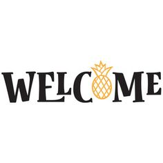 Silhouette Design Store: welcome pineapple