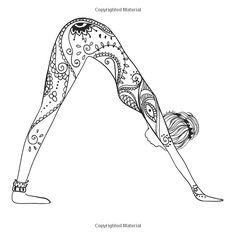 adult coloring books zen yoga volume 1 adult coloring books - Yoga Anatomy Coloring Book