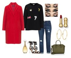 """""""Untitled #454"""" by d3finedimage on Polyvore featuring Yoek, Gianvito Rossi, Samoon, Givenchy and Christian Dior"""