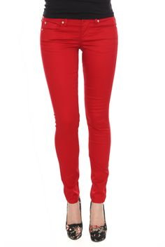 LOVEsick Red Skinny Jeans | Hot Topic.         http://www.hottopic.com/hottopic/Girls/Jeans/SkinnyJeans/LOVEsick+Red+Skinny+Jeans-786723.jsp