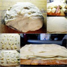 Préparation de la pâte feuilletée facile pour des croissants au beurre - Kaderick en Kuizinn©