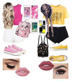 """Untitled #86"" by heather-burns-hb on Polyvore featuring Topshop, Converse, Apple, Casetify, Griffin and Lime Crime"