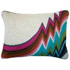 Great Bargello Idea for Pillow
