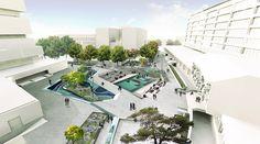 Waterplein Benthemplein Reveals the Secret of Versatile Water Squares | by De Urbanisten, in Rotterdam, Netherlands.