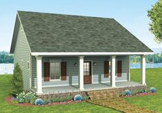 992 sq ft Cozy 2 Bed Cottage House Plan - 2596DH | 1st Floor Master Suite, Cottage, Country, Narrow Lot, PDF, Vacation | Architectural Designs