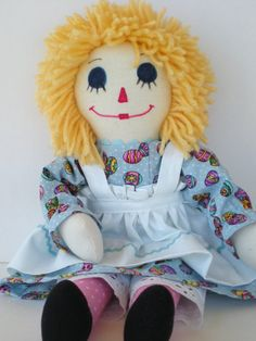 Easter Raggedy Ann Handmade by theyellowroses on Etsy, $40.00
