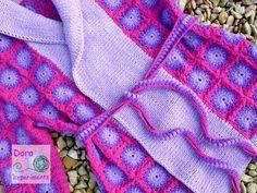 Sunburst granny square kardigan Sweter z kwadracików szydełko, crochet, handmade, rękodzieło
