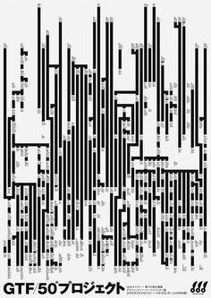 Poster: GTF/50 Projects. Graphic Thought Facility. 2006 - Gurafiku: Japanese Graphic Design
