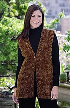 Simple Luxury Vest - Free Knitted Pattern - See http://www.ravelry.com/patterns/library/simple-luxury-vest-knit For Additional Projects - (lionbrand)