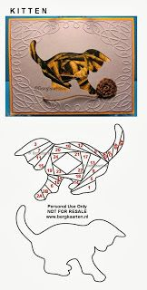 Kitten Iris Fold Card