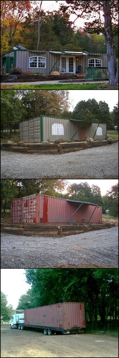 The owner's plan is to build a cabin or shelter made from shipping containers. One which they can use during the weekend, but should be able to function during an extended stay, such as during times of disaster. It should be self sustainable and have all the comforts of home. Watch it take shape and take a tour by viewing the full gallery on our site at theownerbuilderne... Do you also want to live in a self sustainable home? ¿Who Else Wants Simple Step-By-Step Plans To Design And Buil...