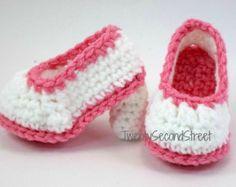 Crochet botitas de bebé zapatos botas alas Ángel por EditaMHANDMADE