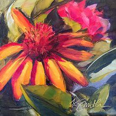 coneflower // flower painting // flower art // coneflower