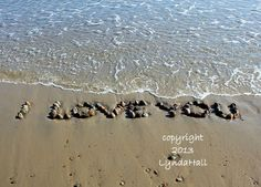 I LOVE YOU Romantic Sentiment 5x7 Beach Photo by myBeachWishes, $28.00