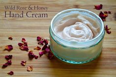Homemade Lotion Recipes - wild rose and honey hand cream