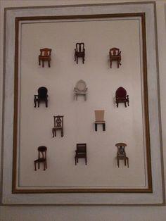 Quadro de cadeirinhas - 2011 Miniatura de cadeirinhas formaram esse quadro -