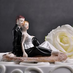 """Cake+Toppers+""""Romantic+Moment+On+The+Beach""""+Cake+Topper+–+AUD+$+28.59"""