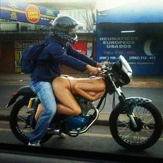 #CaptionContest. This should be good. 'I knew there was a reason I needed a new bike.'