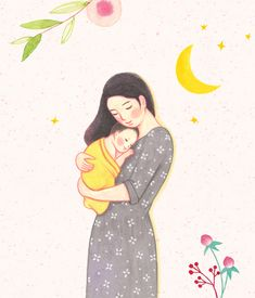 Mother And Child Drawing, Mother Daughter Art, Mother Art, Baby Clip Art, Baby Art, Family Drawing, Drawing For Kids, Family Illustration, Cute Illustration