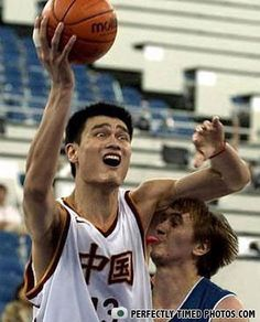 Everyone knows that Yao has the tastiest armpits in the league.  This guy apparently didn't believe the hype!