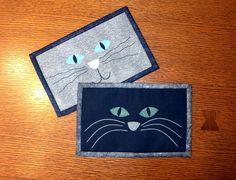 Cat Face Mug Rug - Cat Mini Quilt pattern on Craftsy.com