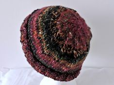Beanie Hat for Adults Raspberry Olive Dark Grey Gold £10.50