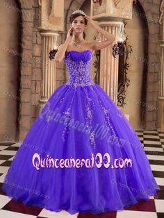 Luxury and Grace Purple Ball Gown Princess Quinceanera Dresses